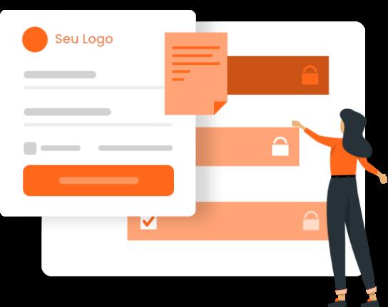 Imagem mostra dashboard de clientes dentro da DashGoo by mLabs