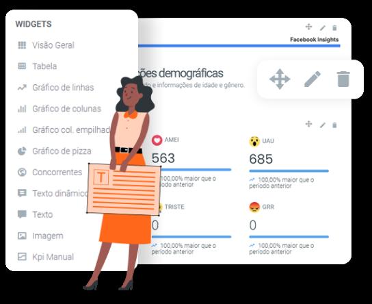 Imagem mostra personalização de relatórios da DashGoo by mLabs